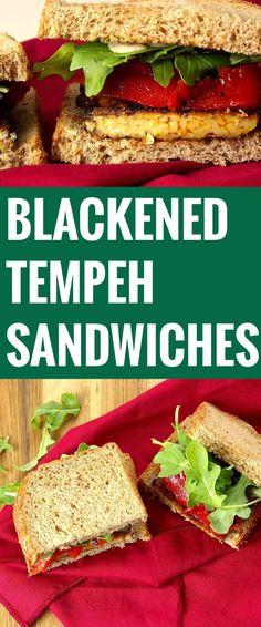 Blackened Tempeh Sandwiches