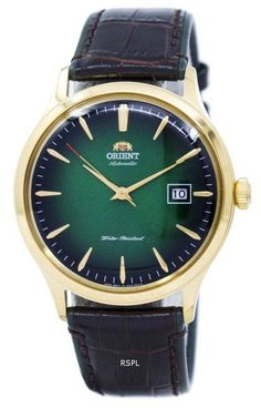 We are the leader in watch sales online Orient Bambino Version 4 Automatic Men's Watch has Gold Tone Stainless Steel Case, Leather Strap, Automatic Movement, Caliber: Bulova, Seiko, Mens Watches Leather, Leather Men, Cw Watches, Casual Watches, Crown And Buckle, Most Beautiful Watches, Orient Watch
