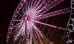 We lit up Atlanta's giant ferris wheel, SkyView for October 2013's Breast Cancer Awareness