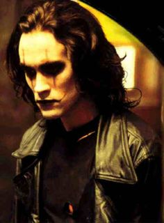 Brandon Lee as Eric Draven. 'The Crow'. Maybe not changed my life, but i.was astounded the story and imagery and the tragedy of Brandon Lee. Brandon Lee, Bruce Lee, The Crow, Crow Movie, Movie Tv, Live Action, Stairway To Heaven, Crow Costume, Dark Romance