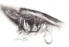 Cryin Eye Drawing