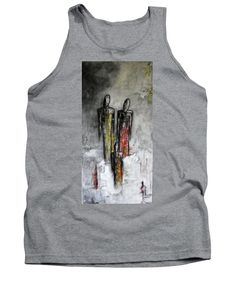 Abstract Tank Top featuring the painting Family portrait by Iulia Paun