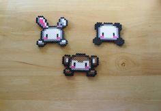 Bunny Panda Monkey Sprite Magnet Set by DelightfulEpiphany on Etsy, $6.00