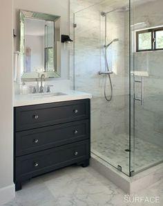 Transitional Bath Design Ideas, Pictures, Remodel and Decor -- guest bath