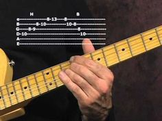 Learn lead blues guitar lesson modern post war BB King Otis Rush styles with tabs - YouTube