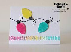 Christmas Light Bulbs, String Lights, Christmas Lights, Christmas Cards To Make, Holiday Cards, Christmas Crafts, Christmas 2017, Xmas Cards, Christmas Ideas