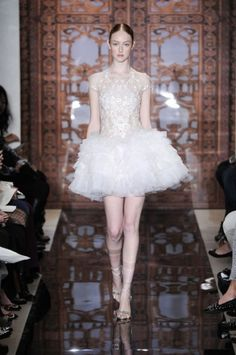 Short Wedding Dresses Reem Acra 4 | Weddingbells.ca