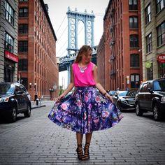 Editorial NY Saia Brooklyn Midi Floral Alle Röcke