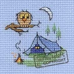 Stitchlets Cross Stitch Kit Camping :)  no chart but can figure out the stitches.....