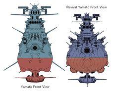 Space Battleship Yamato - Versão original (1974) e remake (2012).