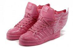 outlet store a7cbc 4e880 Jeremy Scott - Adidas con Alas en charol rosa Charol, Zapatillas  Deportivas, Tenis,