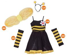 113.26  7 Sets lot Livraison Gratuite Enfants Bee Costumes Carnaval  Halloween Mascarade Enfants Filles Cosplay Vêtements Princesse Fée Robe  dans Robes de ... 3b23fdcda25d