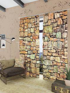 """Комплект штор """"Структура камня"""": купить комплект штор в интернет-магазине ТОМДОМ #томдом #curtains #шторы #interior #дизайнинтерьера"""