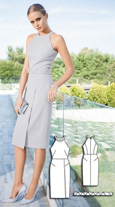 Couture Dress Burda Aug 2016 #113  http://www.burdastyle.com/pattern_store/patterns/couture-dress-082016