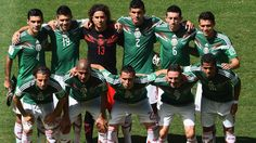 Mexico pose for a team photo prior to the 2014 FIFA World Cup Brazil Round of 16 match between Netherlands and Mexico