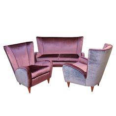 Set of Two Armchairs and a Sofa by Paolo Buffa