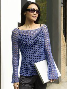 Crocheted Paris Tunic in Tahki Yarns Cotton Classic Lite