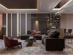 Searching For Home Decorating Tips? Living Room Modern, Home Living Room, Living Room Designs, Living Spaces, Le Logis, Bedroom Bed Design, Apartment Interior, Ceiling Design, Contemporary Interior