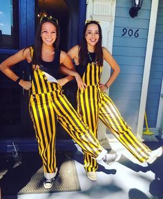 Saturday Night: Show your school spirit by wearing school branded clothing Overalls Outfit, Black Overalls, Bib Overalls, College Games, College Game Days, College Life, Go Blue, Black N Yellow, Tailgate Outfit