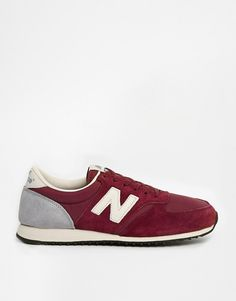 Image 1 ofNew Balance 420 Burgundy Suede Trainers