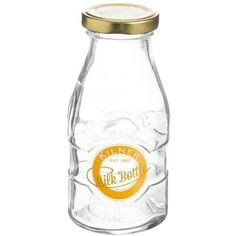 Kilner Small Retro Milk Bottle 198ml ($3.92) ❤ liked on Polyvore featuring home, kitchen & dining, kilner jars, lidded jars, milk bottle and juice jar