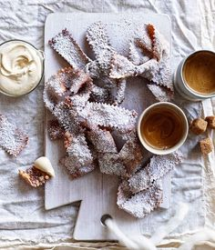 Australian Gourmet Traveller recipe for Fried pastries with espresso mascarpone