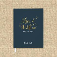 Wedding Guest Book 8  Custom Hardcover Guest by PaperLuxStationery