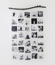 DIY Photo Wall Hanging: This super simple photo display would be cute in a kid's room.