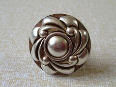 Flower Cabinet Knobs / Dresser Knobs / Drawer Knobs Pulls Handles Antique Silver / Vintage Furniture Knob Door Knob Pull Handle Hardware 180