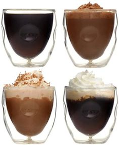 Ozeri Moderna Artisan Series Double Wall Beverage and Espresso Shot Glasses, 2-Ounce, Set of 4 Ozeri