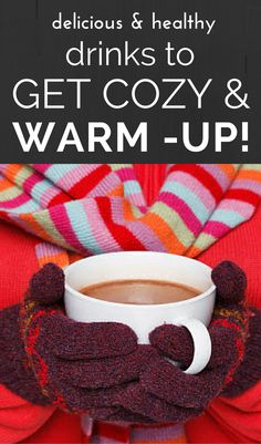 Take the chill off and get warm and cozy with these two popular delicious winter drinks made in a special way that offer major health benefits. Tap here for two easy healthy recipes you will make again and again for your family and friends! Healthy Meals For Two, Healthy Kids, Easy Healthy Recipes, Healthy Drinks, How To Stay Healthy, Healthy Snacks, Healthy Living, Cacao Recipes, No Dairy Recipes