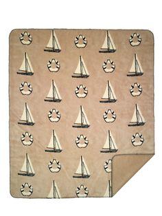 Too cute for the sofa. Sailboats Nautical Microplush Throw