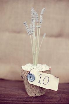 DIY Lavender Table Numbers