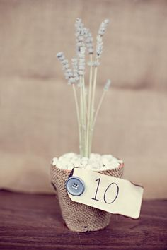 DIY Lavender Table Numbers