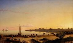 Фитц Генри Лейн (1804-1865) - Форт сквозь Гавань Глостера. часть 3 Музей Метрополитен