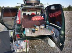 Camping on Gotland, Sweden. #yarisverso #campercar #diy #camper #funcargo