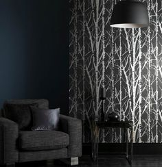 swatch of Aspen Wallpaper Graphite