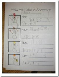 how to make a snowman writing . . . should be interesting to hear the floridian ideas!