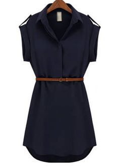 Navy Dress r Tunic Top - to pair with leggings and boots!