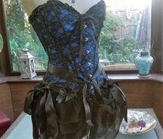 Halloween party steampunk burlesque boned corset necklace