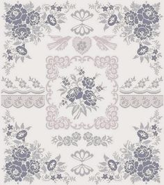 "Fleurs du Ciel Design Area: 17,19""W x 19,56""H 275 x 313 stitches Cross Stitch – Backstitch Lines Archivo PDF vía e-mail $..."