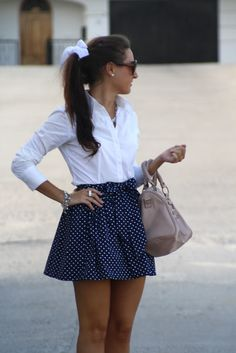 in love w this look Moda Preppy, Preppy Girl, Preppy Style, Beauty And Fashion, Look Fashion, Fashion Outfits, Womens Fashion, Dress Skirt, Dress Up