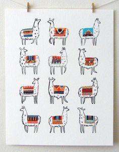 Lama-rama Print par CactusClub sur Etsy