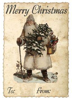 Christmas Tag ~ Free printable