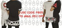 Exclusive Longline T-shirts. Use Code: FB25 to avail 25% off on all items.Shop Now!