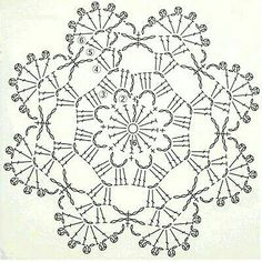 Here's a nice little crochet chart pattern from Sugar_LYS found on a…Pretty little doily; Photo pinned to my crochet boardMingky Tinky Tiger + the Biddle Diddle Dee: Photo Crochet Circles, Crochet Motifs, Crochet Blocks, Crochet Diagram, Crochet Round, Thread Crochet, Crochet Doilies, Crochet Lace, Crochet Snowflake Pattern