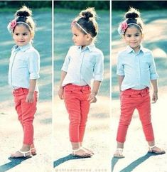 This little styled girl is so cute!