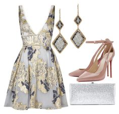 """Untitled #53"" by bridgetdow ❤ liked on Polyvore featuring Notte by Marchesa, Jimmy Choo and Dana Kellin"