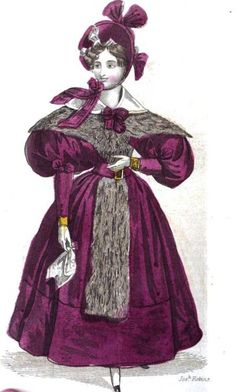Walking dress, The Ladies Pocket Magazine, January 1834.