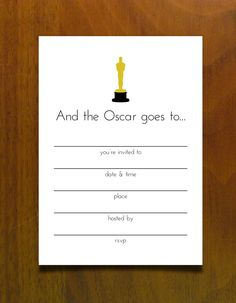 Free Printables for an Oscar Party #invite #oscars #free